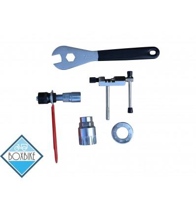 Værktøjssæt m/ 5 dele - montering af elcykel kit 199 DKK