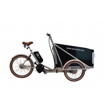 Premium El-ladcykel - Sølv ramme / sort box