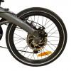 Foldbar elcykel / Foldecykel med 250W elmotor - Integreret LG batteri - Oliven grøn / Lime