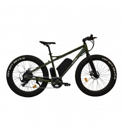 Fatbike med elmotor - AB WERK - Bafang 48V / 750 Watt / 10 Ah Samsung batteri - Militær grøn