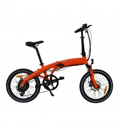 Foldbar elcykel / Foldecykel med 350W elmotor - Lambo Orange - LG batteri i rammen