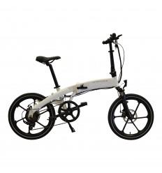 Foldbar elcykel / Foldecykel med 250W elmotor - White Gloss - Integreret LG batteri