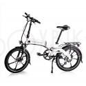 Folde elcykel 250W - Strømstad flex - Alpinhvid - 367 Wh LG batteri