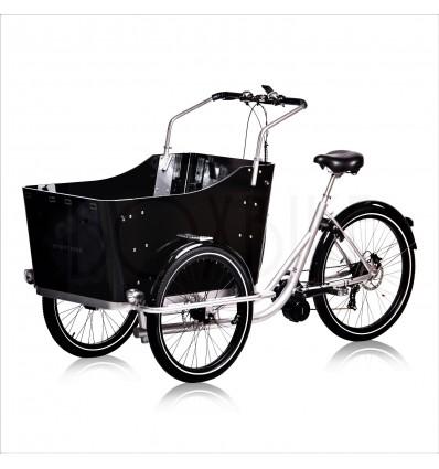 Ladcykel med krankmotor 250-750W - Strømstad plus4 - Sølv ramme / sorte detaljer