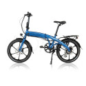 Hopfällbar elcykel 250W - Strömstad flex - Marinblå - 378 Wh LG batteri