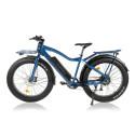 E-fatbike 250-750W / 25-45 km/t - blå metallic - Strømstad biggie