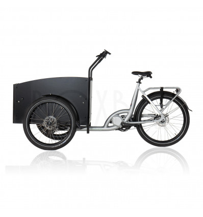 Strøm|stad Lådcykel med mittmotor 250 / 500W - Strömstad plus4 - Silver ram / svarta detaljer 25 975 DKK