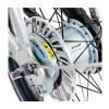 Ladcykel med centermotor & indvendige gear - Sølv ramme / sorte detaljer