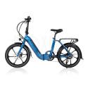 Folde elcykel 250W - Strømstad reflex - lav indstigning - Marineblå