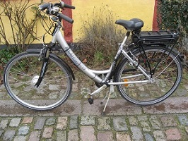 Almindelig cykel ombygget til elcykel