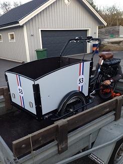 Ladcykel med Herbie sticker