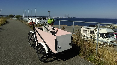 Boxbike lådcykel vid öresundsbron